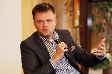 Szymon Hołownia ostro skomentował to, jak traktowani są protestujący niepełnosprawni.