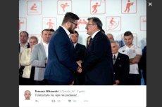 Działacz PiS przekonuje, że Paweł Fajdek przegrał, bo podał rękę Bronisławowi Komorowskiemu.
