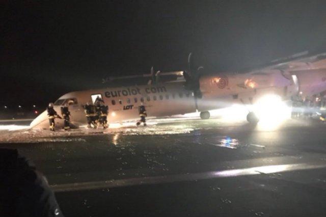 Samolot z 64 osobami na pokładzie awaryjnie lądował na lotnisku Chopina w Warszawie.