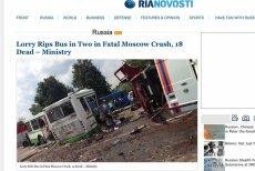 Poniedziałek ogłoszono dniem żałoby w obwodzie moskiewskim. To reakcja na katastrofę, w której zginęło 18 osób.