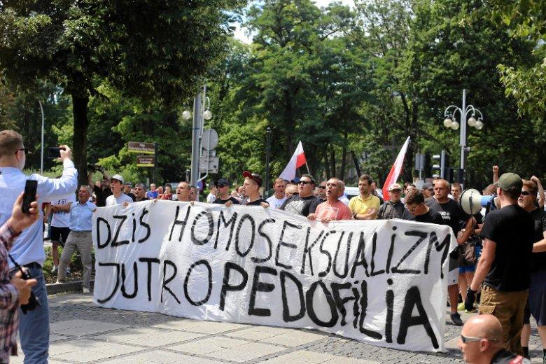 Kontrmanifestacja wobec Marszu Równości w Częstochowie.