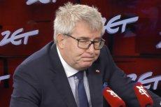 Ryszarda Czarneckiego zdenerwowały pytania o załatwianie pracy dla syna.