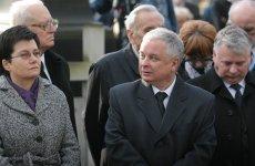 Prezydent RP Lech Kaczyński razem ze swoją następczynią na stanowisku prezydenta Warszawy, Hanną Gronkiewicz-Waltz.