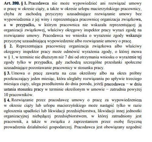 Artykuł 177 w projekcie nowego Kodeksu Pracy zastąpił artykuł 390.