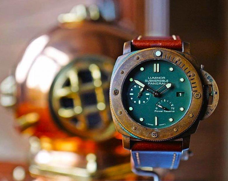 Patyna na zegarku Panerai Luminor Submersible 3 Days Bronzo
