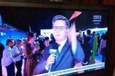 Dziennikarz TVP zaliczył wpadkę. Nie wiedział, że jest już na wizji.