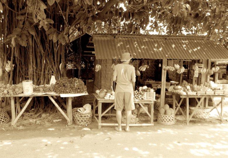 Stragan z owocami, Kuta na Lombok, 2016.