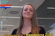 Magda Żuk podczas konkursu miss powiatu.
