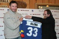 Krzysztof Oliwa, podpisujący kontrakt z Podhalem Nowy Targ
