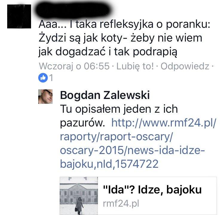 zrzut ekranu profil Bogdana Zalewskiego