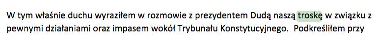 Minister Zalewska kłamie w żywe oczy mówiąc, że prezydent Obama nie mówił o zatroskaniu sytuacją w Polsce.