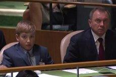 Syn Aleksandra Łukaszenki reprezentował Białoruś w ONZ.