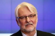 Witold Waszczykowski znalazł już winnych przegranej naszego kraju w staraniach o Expo 2022.