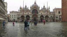 Plac św. Marka w Wenecji, powódź.