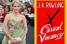 """Autorka """"Harry'ego Pottera"""" J.K. Rowling i okładka jej nowej książki """"Casual Vacancy"""" (""""Trafny wybór"""")"""