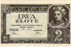Dwa polskie złote z wizerunkiem żony Mieszka I, Dobrawy, 1936