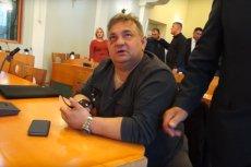 W takim stanie radny Ryszard Ciągło pojawiłsięna sesji.