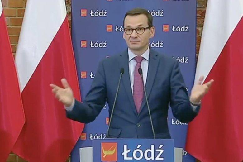 Spotkanie Mateusza Morawieckiego w Łódzkiej Specjalnej Strefie Ekonomicznej zakończyło się awanturą.