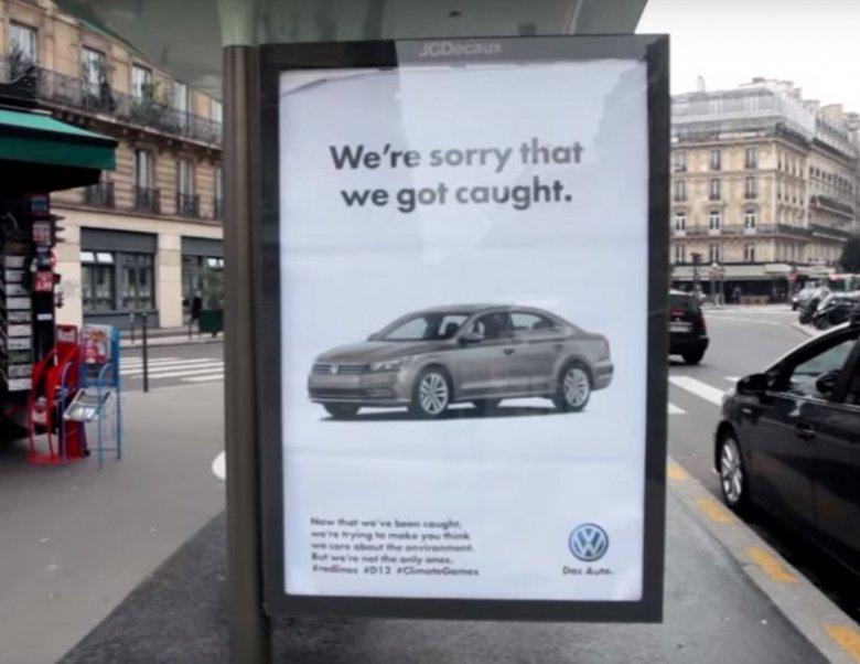 VW był łatwym celem dla akcji.