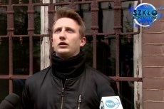 Przedstawiciel Młodzieży Wszechpolskiej nie zaliczy tego występu do udanych.