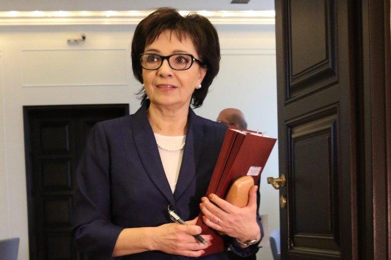 Elżbieta Witek reaguje na zajścia w Białymstoku.