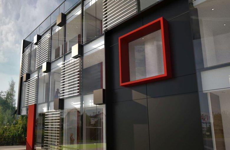 Fragment budynku-laboratorium