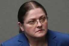 Krystyna Pawłowicz pierwszy raz w todze sędziego Trybunału Konstytucyjnego.