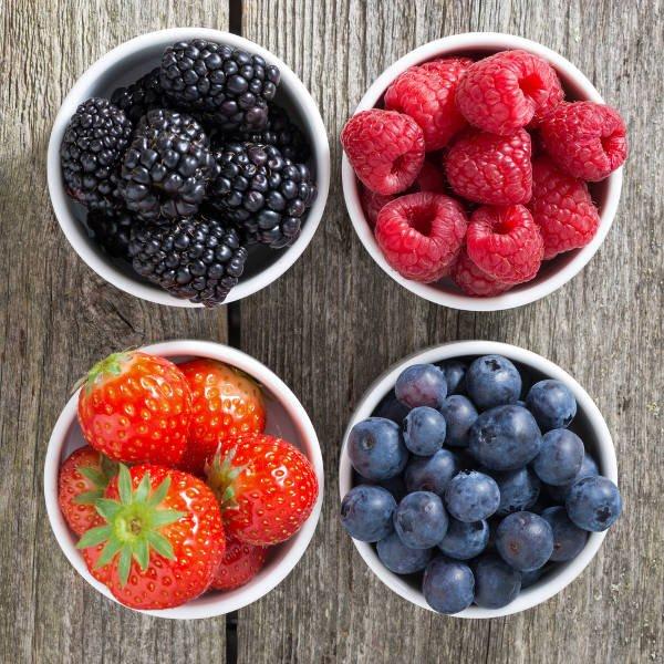 Owoce jagodowe są najbogatszym źródłem antyocyjanów (przeciwutleniaczy), którym zawdzięczają swoje intensywne barwy