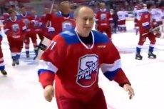 Władimir Putin zaliczył upadek po hokejowym meczu.