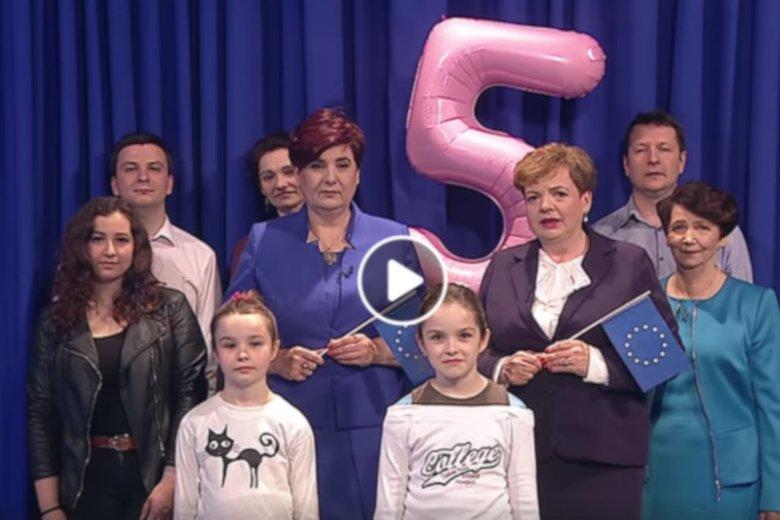 Screen ze spotu wyborczego posłanki PiS Krystyny Wróblewskiej.