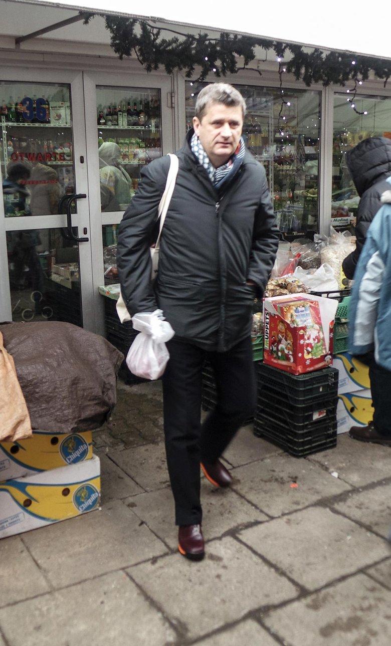 Janusz Palikot na bazarze