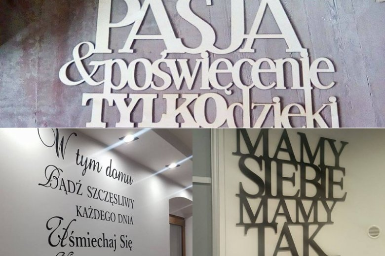 Napisy Na ścianę Dekoracyjne Motywatory Do Mieszkania Do