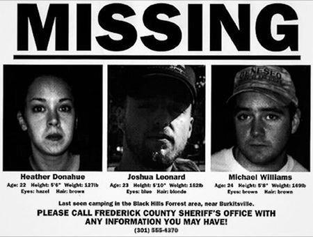 """Dla podkreślenia autentyczności, zgłoszono zaginięcie aktorów z """"Blair Witch Project:."""