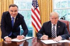 Andrzej Duda wyjaśnił w wywiadzie dla Sieci, dlaczego podpisał deklarację o współpracy z Donaldem Trumpem na stojąco.