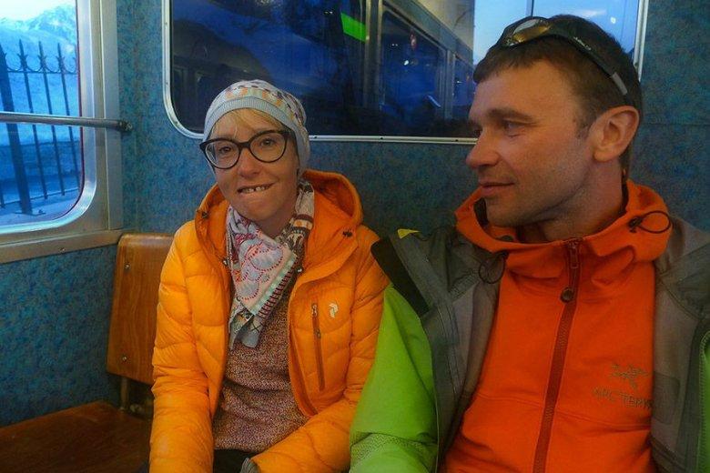 Anna Piunowa z portalu mountain.ru i Aleksander Gukow.