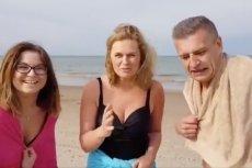 Barbara Nowacka przegrała zakład i musiała po raz pierwszy w życiu morsować.