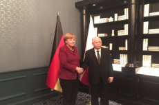 Angela Merkel spotkała się z Jarosławem Kaczyńskim.