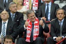 Prezydent na meczu Euro 2012 między Polską a Rosją