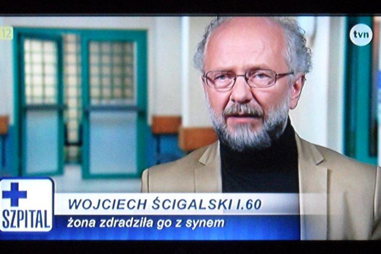 """Tomasz Kordon zagrał w jednym z odcinków serialu """"Szpital"""" w TVN."""
