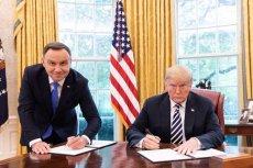 Andrzej Duda zażartował ze słynnego zdjęcia z Donaldem Trumpem. Wszystko w nawiązaniu do meczu siatkówki Polska-USA.