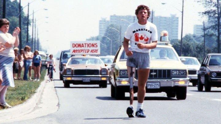 Terry Fox podczas biegu