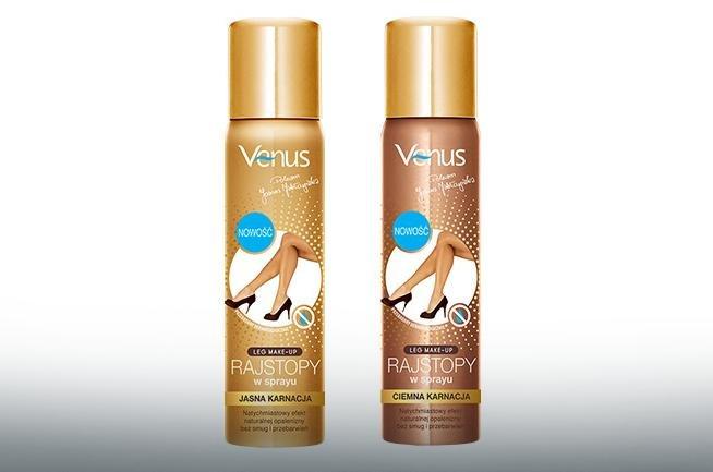 Rajstopy w sprayu marki Venus to obecnie najtańszy na rynku produkt tego typu.
