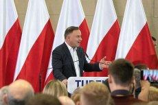 Andrzej Duda na spotkaniu w Turku skomentował coraz wyższe wydatki Polek i Polaków.