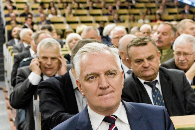 Reformy ministra Gowina były dokładnie omówione ze środowiskiem akademickim. Na zdjęciu - szef resortu nauki na inauguracji roku akademickiego 2016/17 na Politechnice Białostockiej.