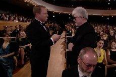 Maciej Stuhr i Pedro Almodovar podczas gali Europejskich Nagród Filmowych we Wrocławiu.