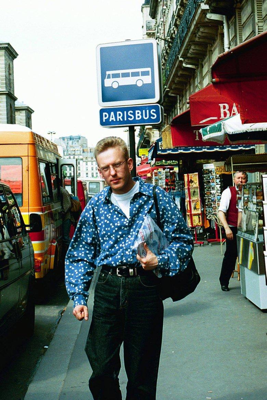Mariusz Szczygieł w Paryżu w 1993