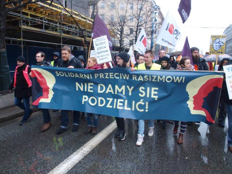 Demonstracja Solidarni przeciw Rasizmowi