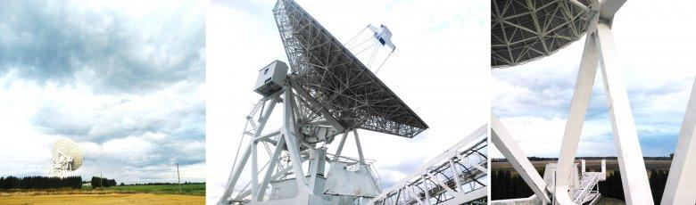 Obserwatorium Astronomiczne UMK pod Toruniem. Dojazd pekaesowym, starym Sanem zajął ok.30 minut. Koszt: 5 zł. Marzyłem o tym, aby obejrzeć z bliska trzydziestometrowy radioteleskop w akcji. Wkrótce UMK ma dysponować trzy razy większym.