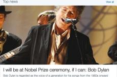Bob Dylan jednak przyjmie nagrodę Nobla. Długo nie mógł uwierzyć w wygraną.