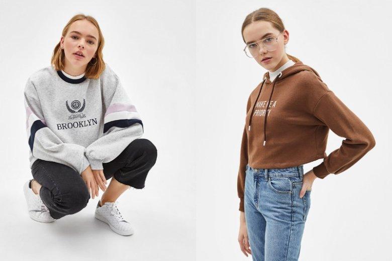 Bluza i jeansy to ponadczasowy zestaw. Bluza Bershka, 79, 90 zł/89, 90 zł